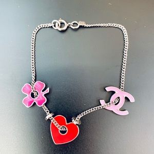 Chanel CC Heart Clover Bracelet 💖🍀 Cute!